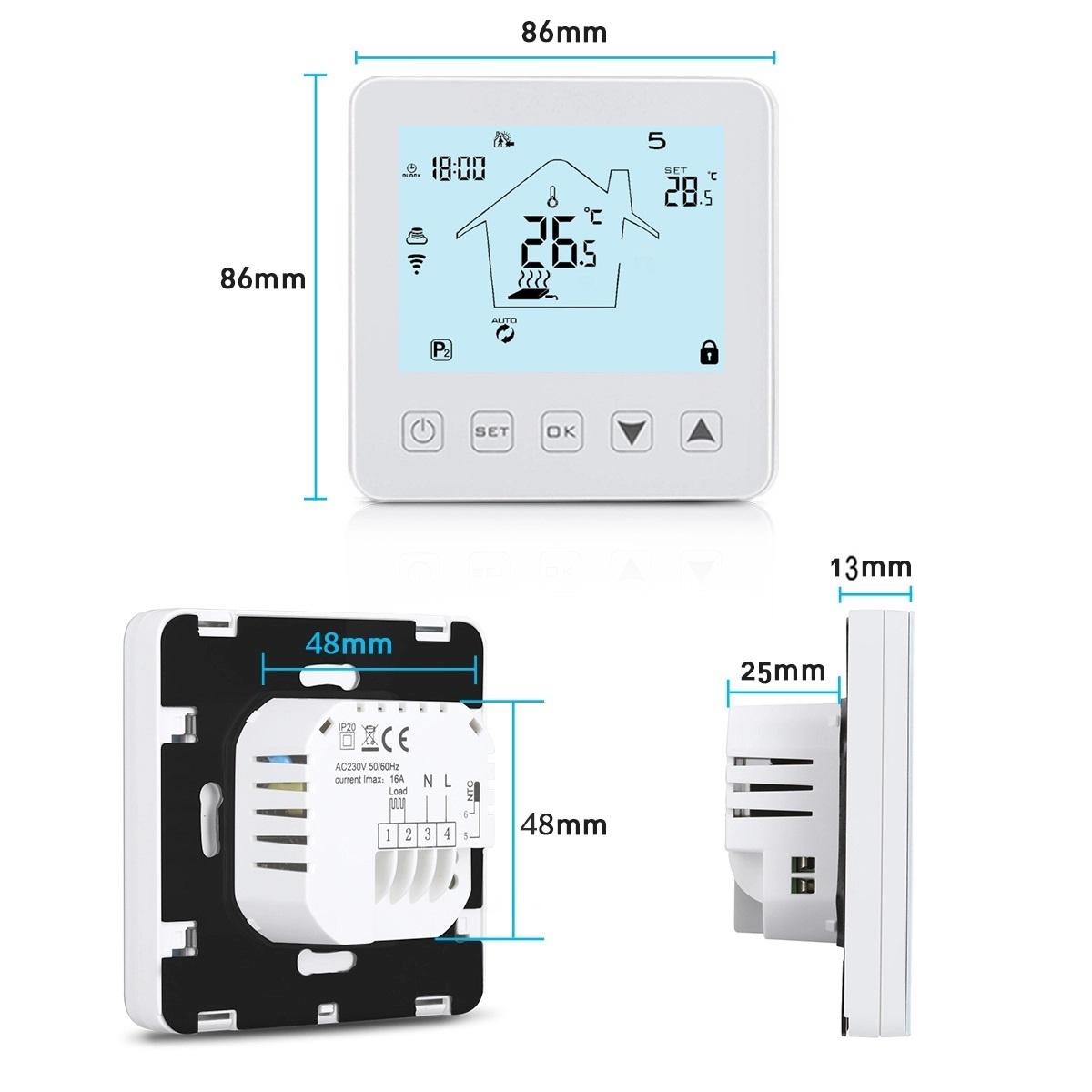 AC termostat připojení