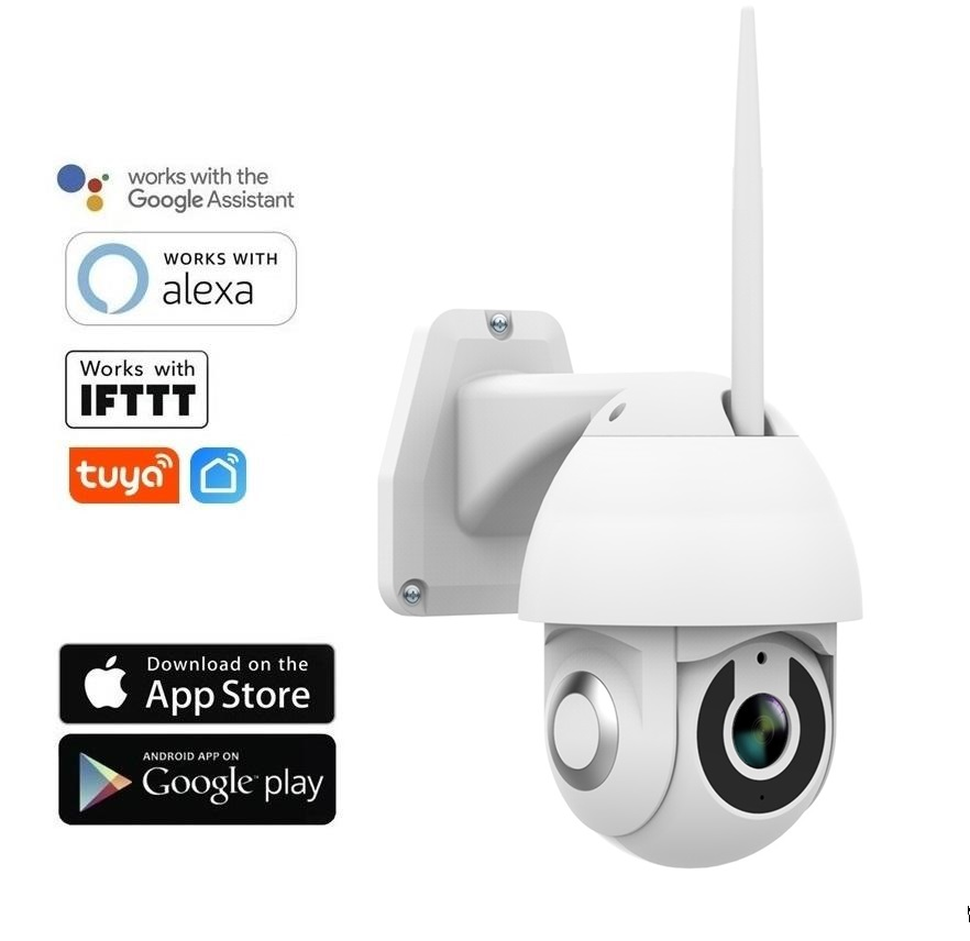 2.0 Mpx WiFi otočná IP kamera FULL HD 1080P - TUYA
